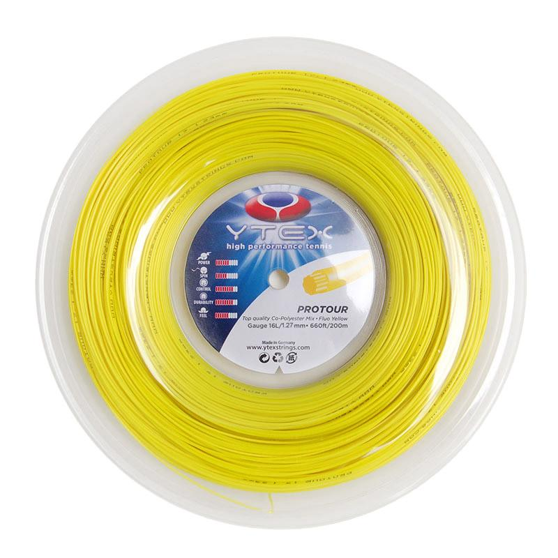 Protour Fluo Yellow 1.27mm/16g Tennis String Reel