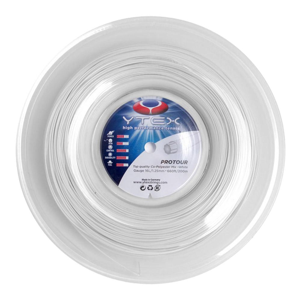 Protour White 1.25mm/16l Tennis String Reel