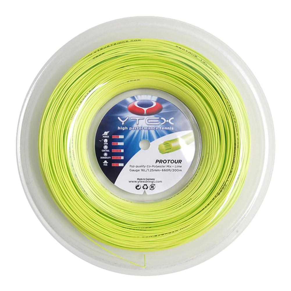 Protour Lime 1.25mm/16l Tennis String Reel