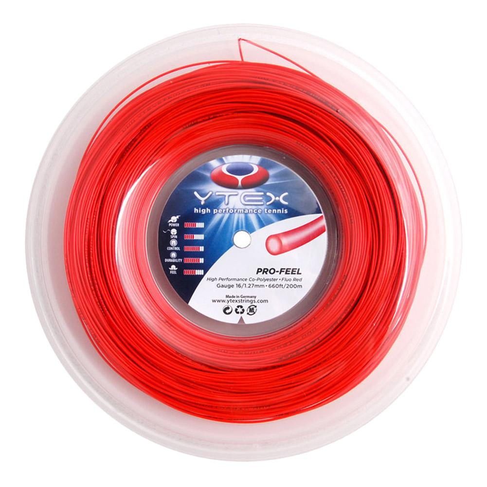 Pro- Feel Fluo Red 1.27mm/16g Tennis String Reel