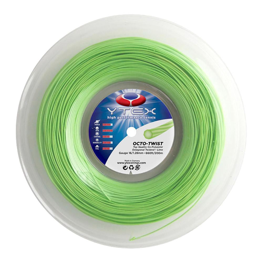 Octo- Twist Lime 1.28mm/16g Tennis String Reel