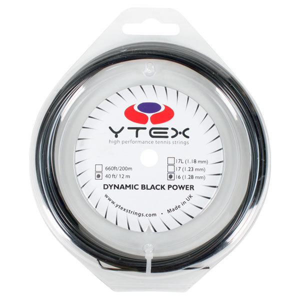 Dynamic Black Power 1.28mm/16g Tennis String