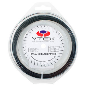 Dynamic Black Power 1.23MM/17G Tennis String