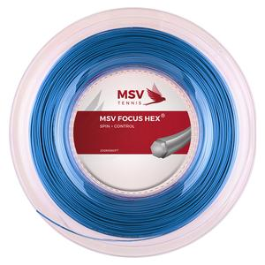 MSV Focus Hex 123 Reel Tennis String Aqua
