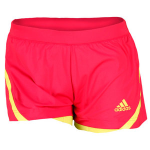 adidas WOMENS ADIPOWER PINK/LIME TENNIS SHORT 2
