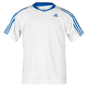 adidas BOYS RESPONSE WHITE/BRIGHT BLUE TEE