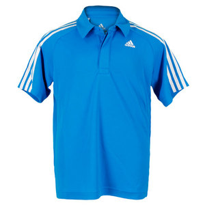 adidas BOYS RESPONSE BLUE/WHITE TENNIS POLO