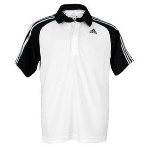adidas BOYS RESPONSE WHITE/BLACK TENNIS POLO