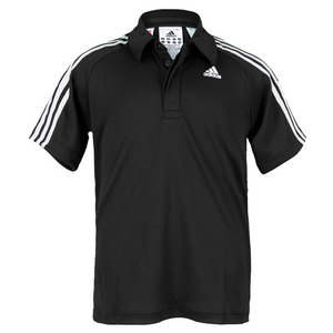adidas BOYS RESPONSE BLACK/WHITE TENNIS POLO