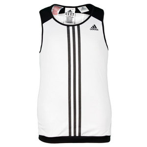 adidas GIRLS RESPONSE WHITE/BLACK TENNIS TANK