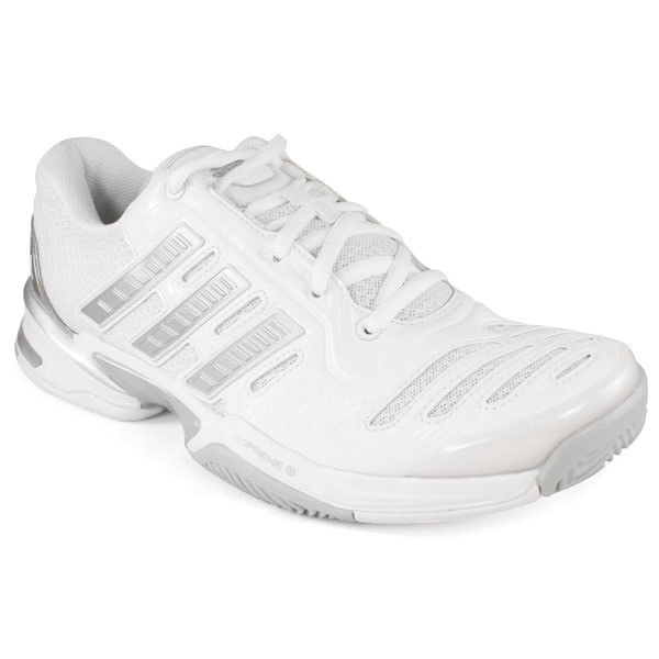 Adidas Women`s Response Comp 2.0 Tennis Shoes White/metallic Silver 5