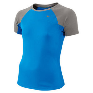 NIKE GIRLS MILER SHORT SLEEVE RUNNING TOP
