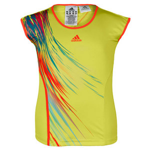 adidas GIRLS ADIZERO LIME TENNIS CAP SLEEVE