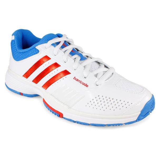 Women's Adipower Barricade 7.0 Tennis Shoes White/Bright Blue