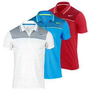 NIKE MENS STATEMENT ZIP PLACKET UV POLO