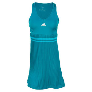adidas WOMENS ADIPURE EMERALD/W/GR TENNIS DRESS