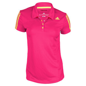 adidas WOMENS RESPONSE BRIGHT PINK/LIME POLO