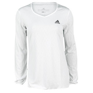 adidas WOMENS ESSENTIALS WHITE TENNIS LS TEE
