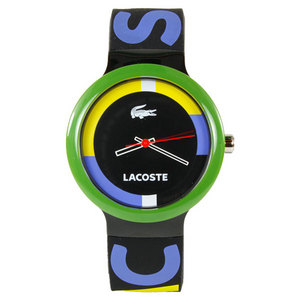 LACOSTE GOA TENNIS WATCH BLACK/GREEN/YELLOW LOGO