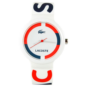LACOSTE GOA TENNIS WATCH WHITE/RED/BLUE LOGO