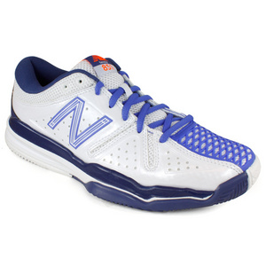 NEW BALANCE WOMENS WC851 WHITE/PURPLE B WIDTH SHOES