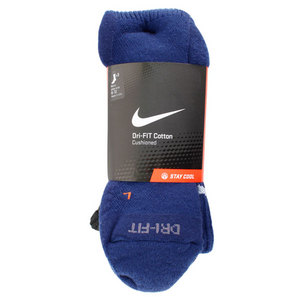 NIKE 3 PK DRI FIT HALF CUSHION LRG CREW SOCKS