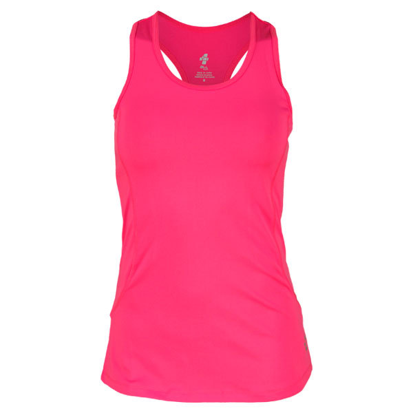 Women's Palermo Solid Racer Tennis Tank (Small Only)