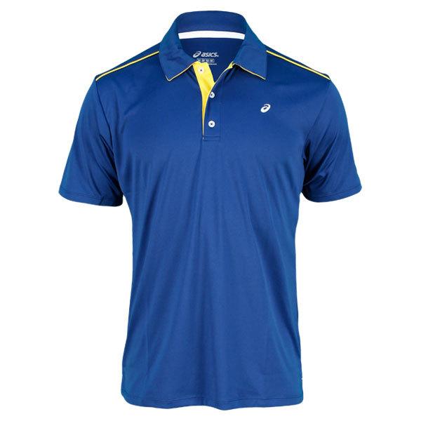 Men's Court Solid Tennis Polo Estate Blue