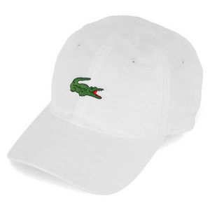 LACOSTE MEN`S LARGE GREEN CROC POLY SPORT CAP