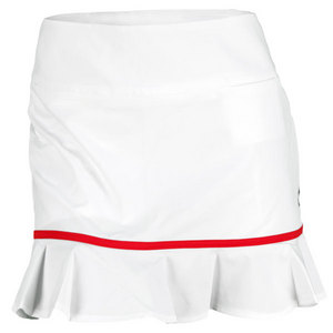 JOFIT WOMENS RUFFLE BOTTOM SKORT WHITE/CHERRY