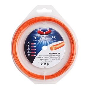 YTEX PROTOUR ORANGE 1.23MM/17G TENNIS STRING
