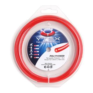 Poly Power 1.30MM/16G Red Tennis String