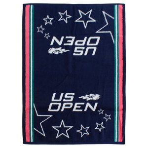 WILSON US OPEN NAVY/PINK AUTHENTIC TENNIS TOWEL