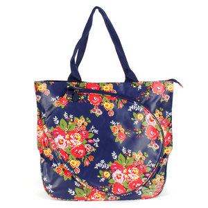 ALL FOR COLOR COTTAGE ROSE TENNIS TOTE