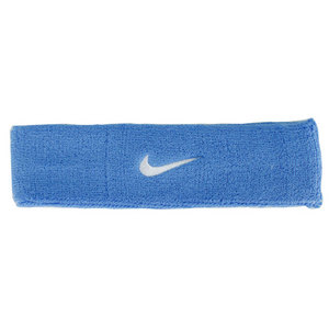 NIKE SWOOSH TENNIS HEADBAND UNIVERSITY BL/WH