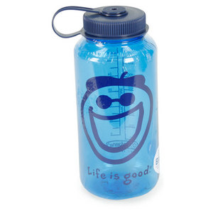 LIFE IS GOOD JAKE 32 OZ BLUE WATER BOTTLE