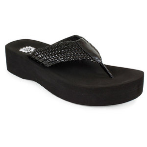 YELLOWBOX WOMENS KALA BLACK SANDALS