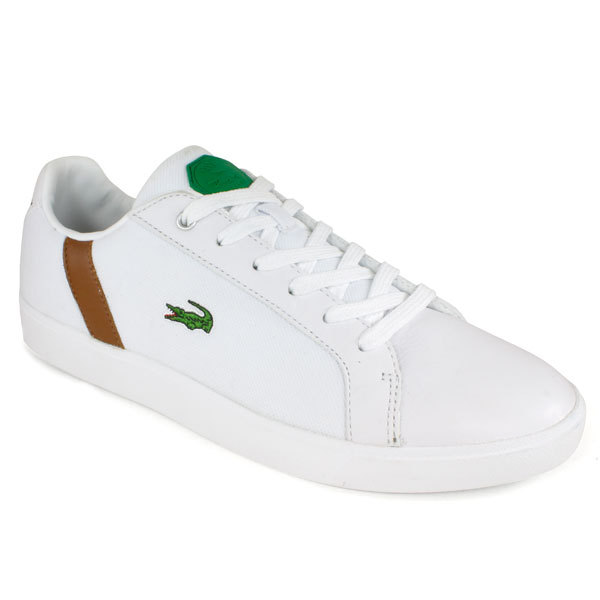Lacoste Men`s Renard Tribute Tennis Shoes White/brown 9