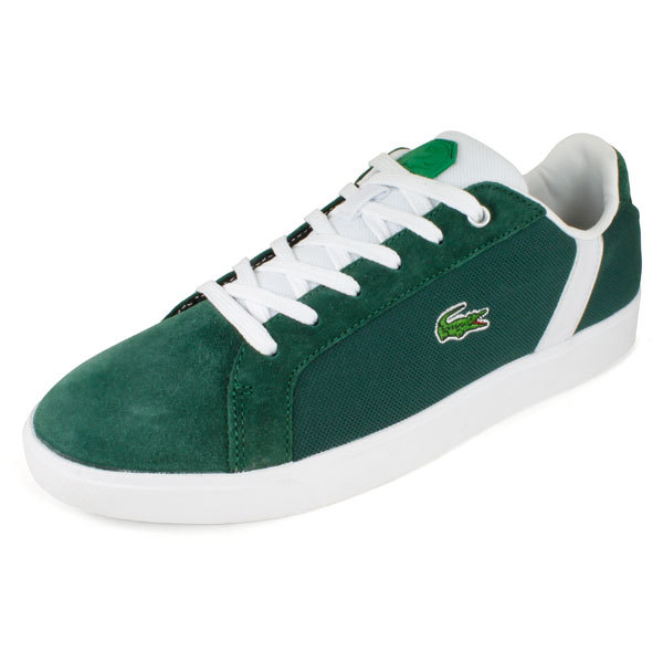 Lacoste Men`s Renard Tribute Tennis Shoes Dark Green/white 9