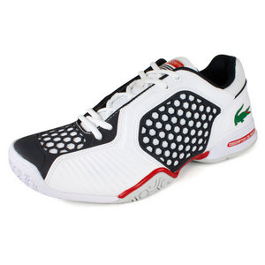 LACOSTE MENS REPEL 2 CL TENNIS SHOES WH/DK BL