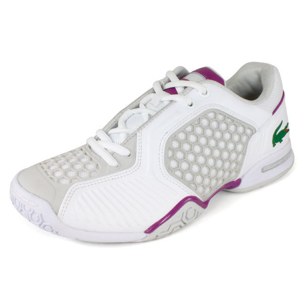 LACOSTE Women`s Repel 2 Tennis Shoes White/Purple