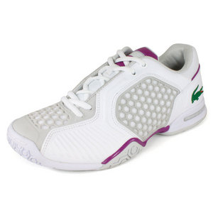 LACOSTE WOMENS REPEL 2 TENNIS SHOES WH/PURPLE