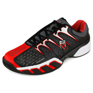 K-SWISS MENS BIGSHOT II TENNIS SHOES BK/RD/CHARC