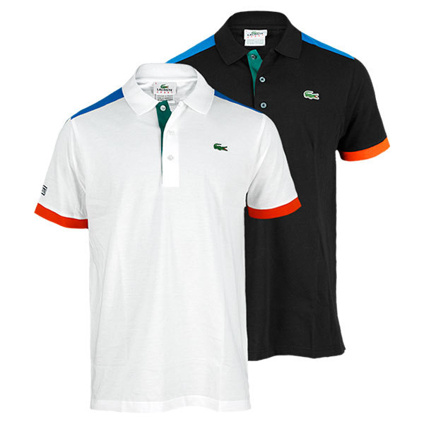 Men's Short Sleeve Super Light Colorblock Tennis Polo