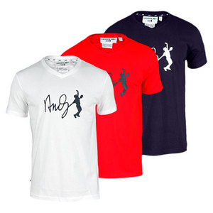LACOSTE MENS ANDY RODDICK V NECK GRAPHIC TEE