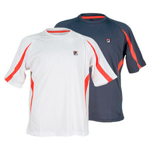 FILA BOYS EMBOSSED CREW NECK TENNIS TOP