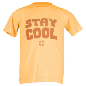 LIFE IS GOOD BOYS STAY COOL CREAMY TEE GOLD