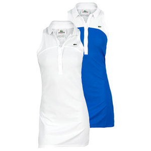 LACOSTE WOMENS SLVLS TECH PIQUE POLO DRESS