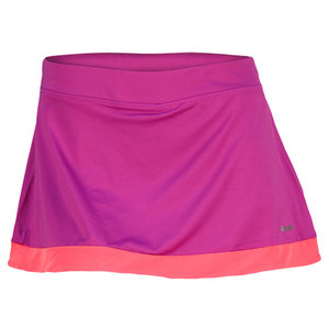 REEBOK WOMENS OUTLACED AUBERGINE SKIRT