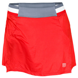WILSON WOMENS FALL TENNIS SKIRT WILSON RED/GY